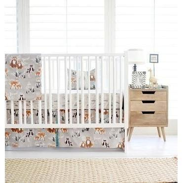 Blanket | Woodland Oh Hello Fog-Baby Blanket-Minky-Jack and Jill Boutique
