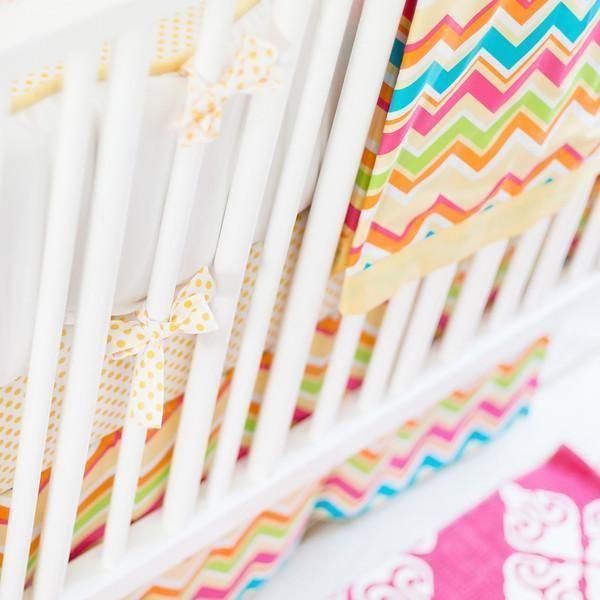 Blanket | Yellow & Pink Chevron Sunnyside Up