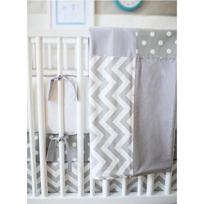 Blanket | Zig Zag in Gray-Baby Blanket-Jack and Jill Boutique