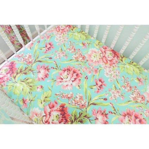 Coral And Aqua Baby Girl Bedding