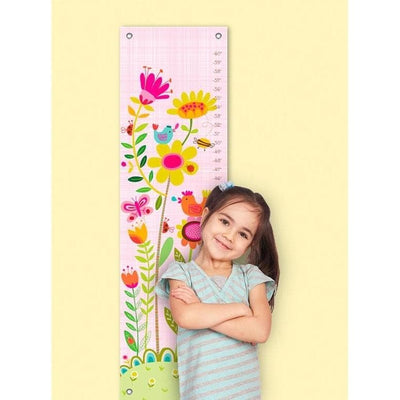 Bloomin' Birdies - Pink & White Growth Charts-Growth Charts-Default-Jack and Jill Boutique