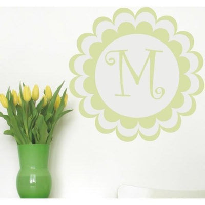 Bloomster Monogram Wall Decal-Decals-Jack and Jill Boutique
