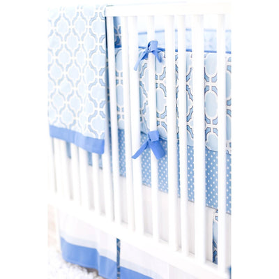 Blue and White Carousel Baby Bedding Set-Crib Bedding Set-Jack and Jill Boutique