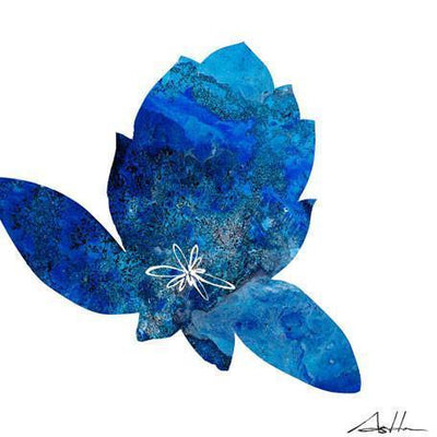 Blue Design Lotus Series #10 | Canvas Wall Art-Canvas Wall Art-Jack and Jill Boutique