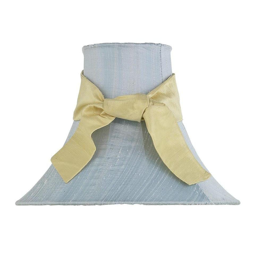 Blue Medium Bell Shade with Yellow Medium Sash-Lamp Shades-Default-Jack and Jill Boutique