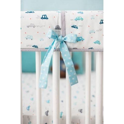 Blue Transportation On My Way Vroom Baby Bedding Set