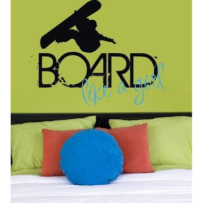 Board Like a Girl Vinyl Wall Decal-Decals-Jack and Jill Boutique