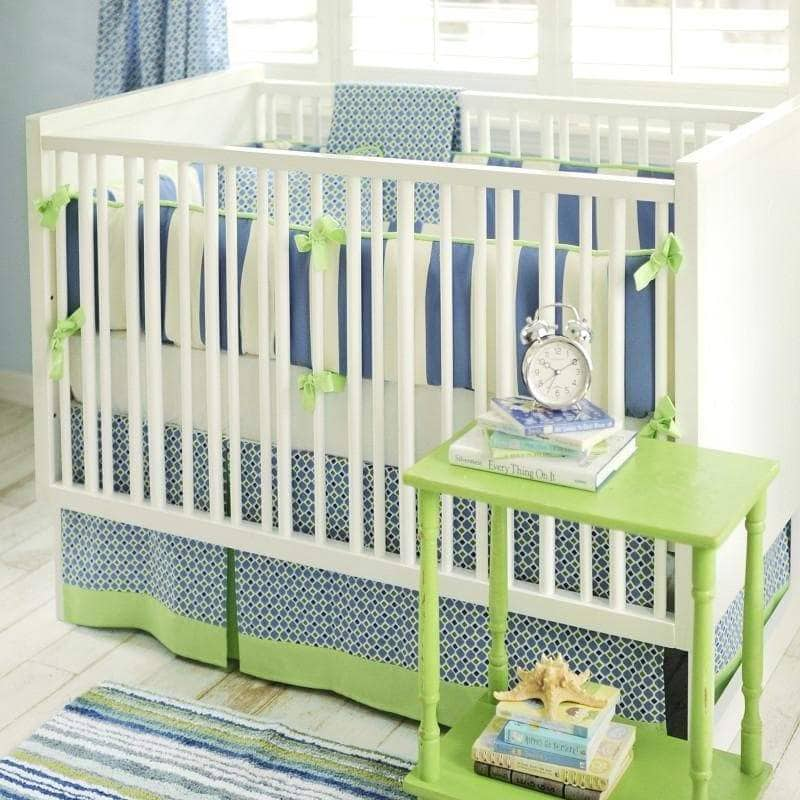 Boardwalk Blue and Green Baby Bedding Set-Crib Bedding Set-Jack and Jill Boutique