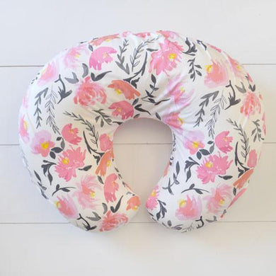 Boppy Cover | Floral Rosewater in Coral