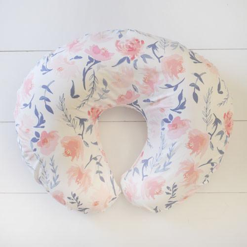Boppy Cover | Floral Rosewater in Peach-Boppy Cover-Default-Jack and Jill Boutique