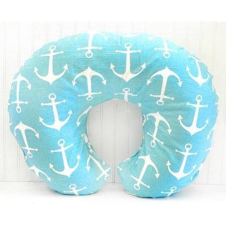 Boppy Covers | Anchors Away in Aqua Nautical-Boppy Cover-Default-Jack and Jill Boutique