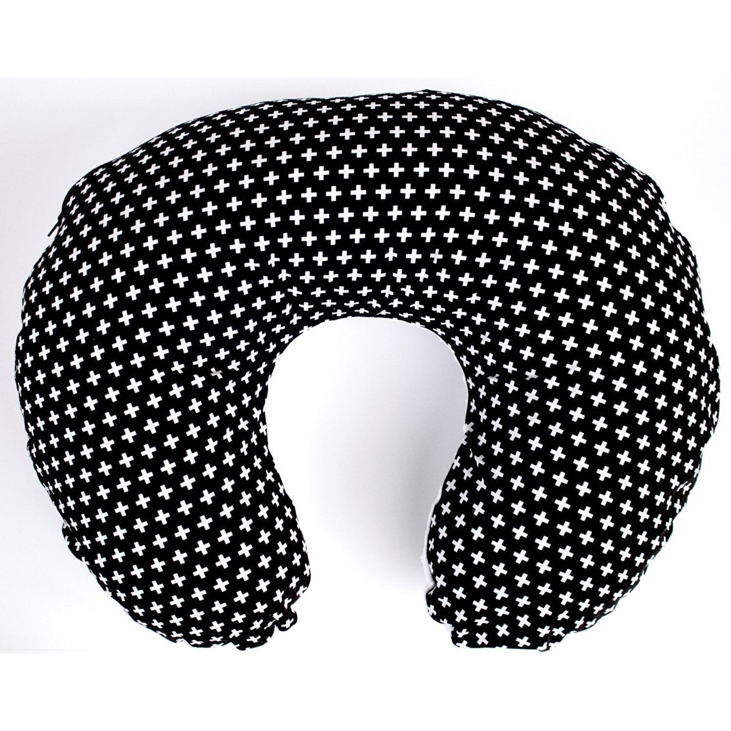 Boppy Covers | Black & White Swiss Cross Crib Baby Bedding-Boppy Cover-Default-Jack and Jill Boutique