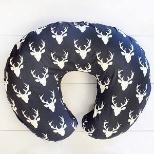 Boppy Covers | Deer Buck Forest in Mist, Navy, Black-Boppy Cover-Mist-Jack and Jill Boutique