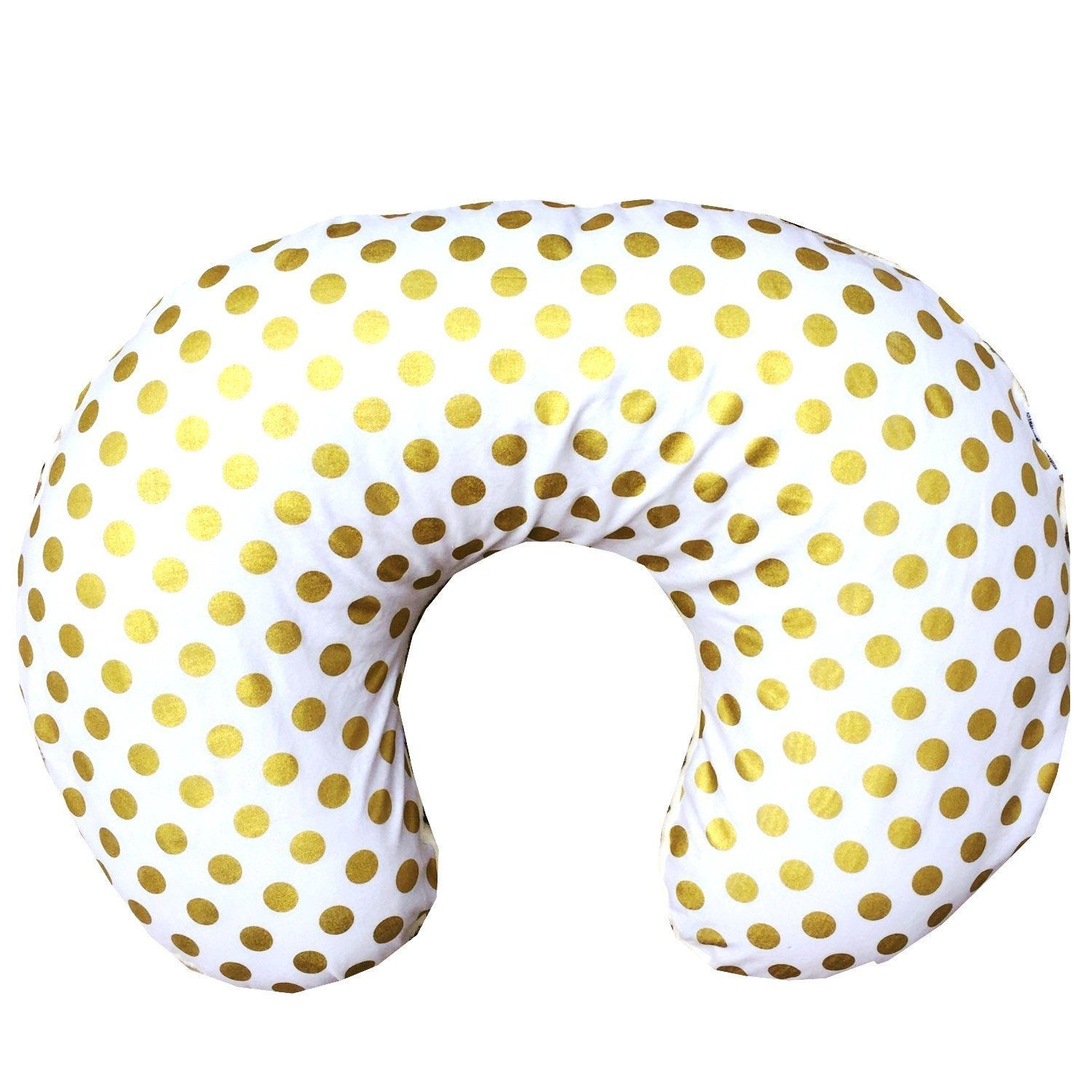 Boppy Covers | Metallic Gold Dots-Boppy Cover-Bold Bedding-Large Dots-Jack and Jill Boutique