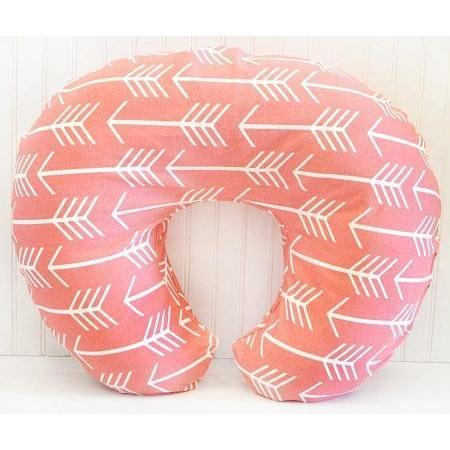 Boppy Covers | Wanderlust in Coral White and Coral-Boppy Cover-Default-Jack and Jill Boutique