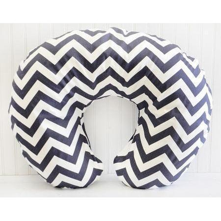 Boppy Covers | Zig Zag in Navy-Boppy Cover-Default-Jack and Jill Boutique