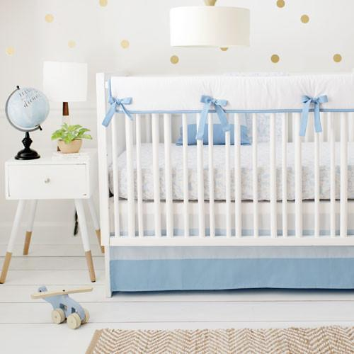 Born Wild in Blue Crib Baby Bedding Set