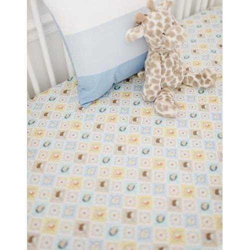 Pillow | Born Wild in Blue Crib Baby Bedding-Pillow-Jack and Jill Boutique