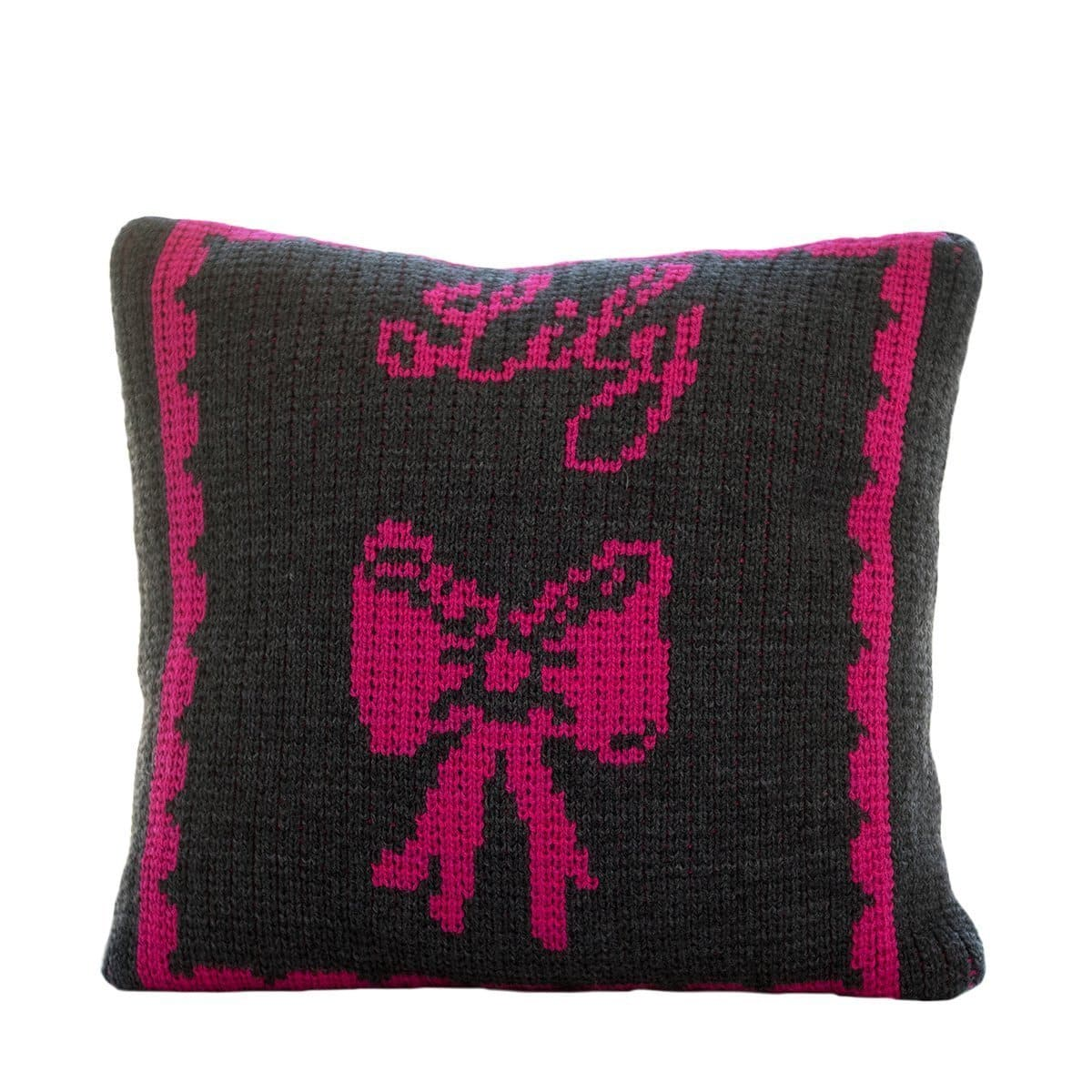 Bow & Name Personalized Pillow-Pillow-Default-Jack and Jill Boutique