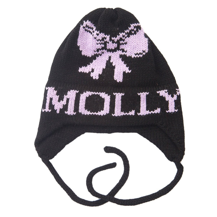 Bow Personalized Knit Hat-Hats-Jack and Jill Boutique