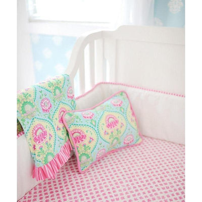 Bumper | Aqua & Pink Floral Layla Rose-Bumper-Default-Jack and Jill Boutique