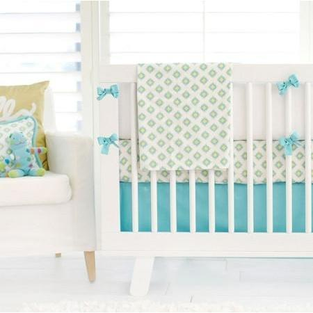 Bumper | Aztec Baby in Aqua-Bumper-Jack and Jill Boutique