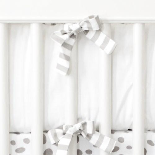 Bumper | White and Gray Stripe - Dalmatian Spots Bedding-Bumper-Jack and Jill Boutique