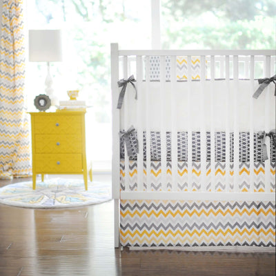 Bumper | Mellow Yellow Yellow and Grey-Bumper-Default-Jack and Jill Boutique