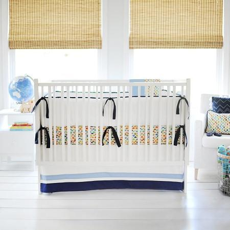 Bumper | Rhapsody in Blue Crib Baby Bedding Set-Bumper-Default-Jack and Jill Boutique