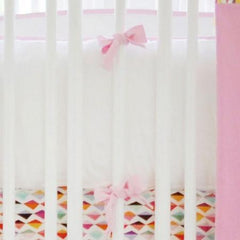Bumper-Jack and Jill Boutique-Bumper | Rhapsody in Pink Crib Baby Bedding Set