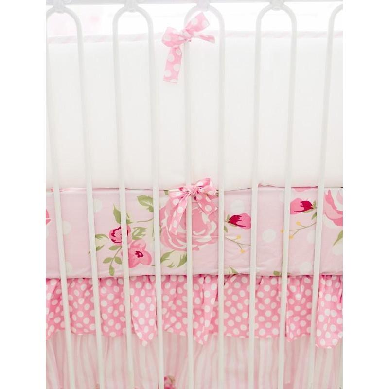 Bumper | Rosebud Lane Floral Crib Baby Bedding Set-Bumper-Jack and Jill Boutique