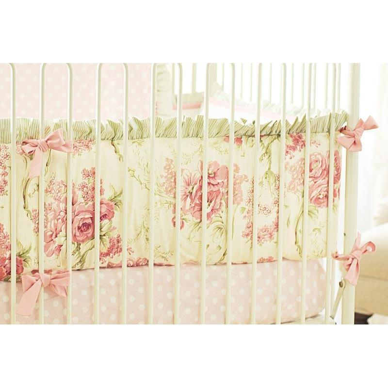 Bumper | Roses for Bella Crib Baby Bedding Set-Bumper-Default-Jack and Jill Boutique