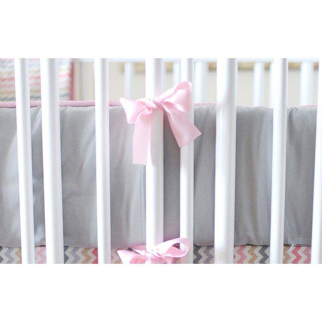Bumper | Sophie Pink and Khaki Crib Baby Bedding Set-Bumper-Default-Jack and Jill Boutique