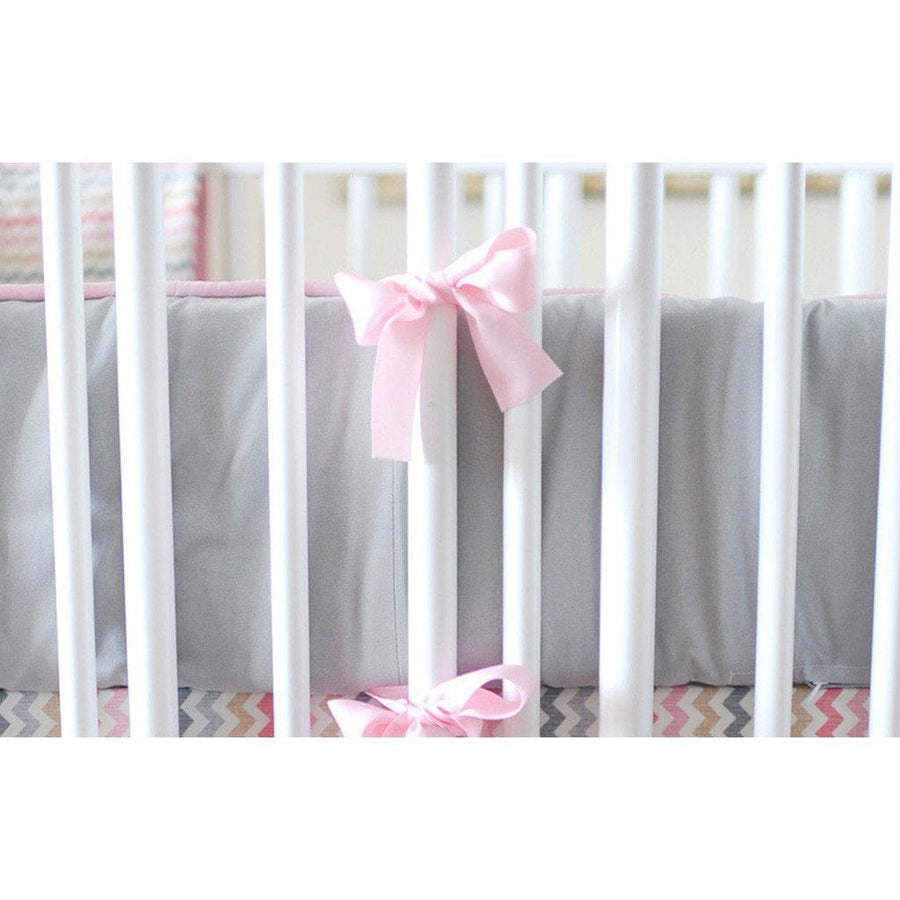 Bumper | Sophie Pink and Khaki Crib Baby Bedding Set