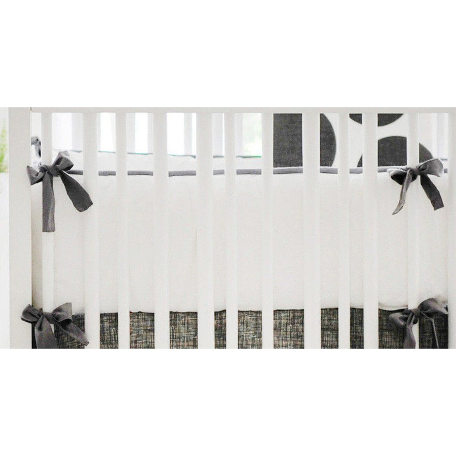 Bumper | Spot On Charcoal Crib Baby Bedding Set-Bumper-Default-Jack and Jill Boutique