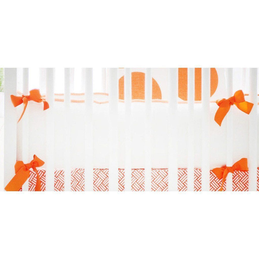Bumper | Spot On Tangerine Crib Baby Bedding Set