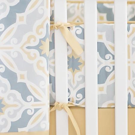 Bumper | Starburst in Gold Crib Baby Bedding Set