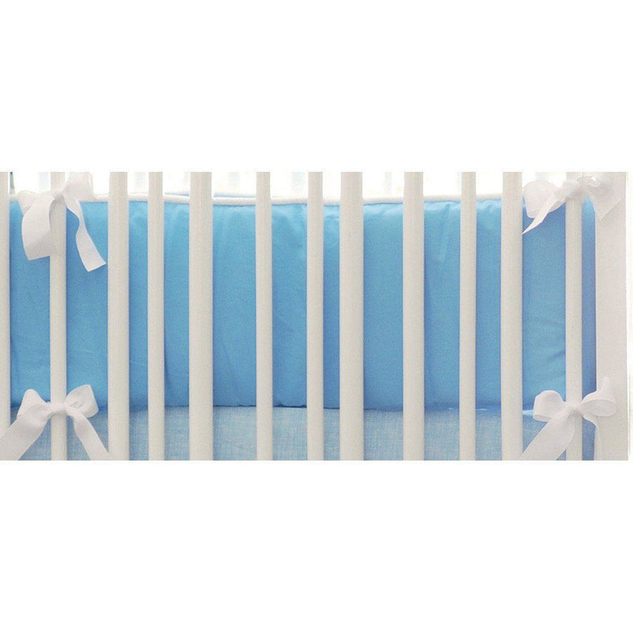 Bumper | Street of Dreams Blue and Yellow Crib Baby Bedding Set