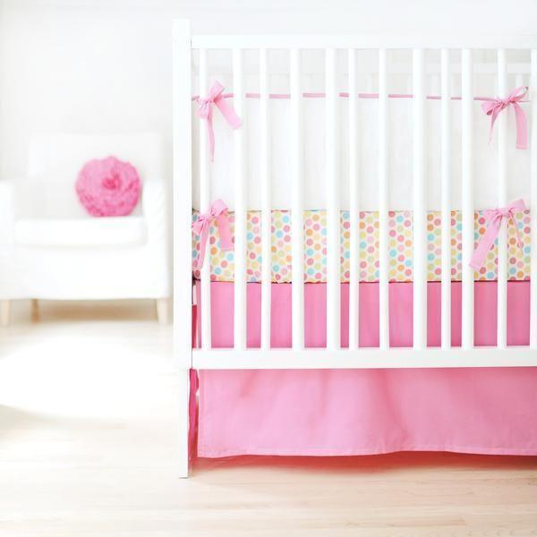 Bumper | Sweet & Simple Seperates - Hot Pink Crib Baby Bedding Set-Bumper-Default-Jack and Jill Boutique