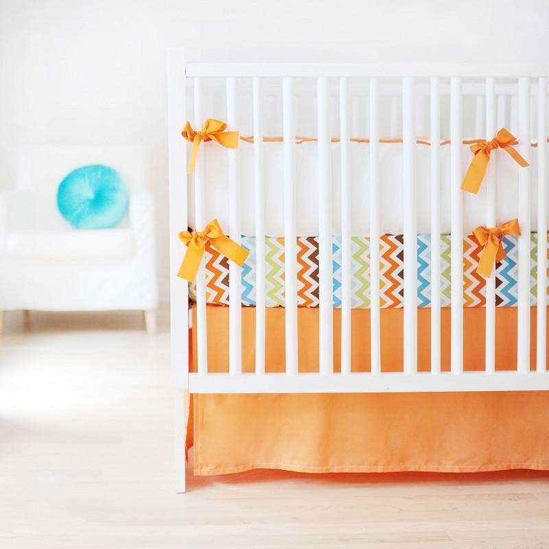 Bumper | Sweet & Simple Seperates - Orange Crib Baby Bedding Set-Bumper-Default-Jack and Jill Boutique