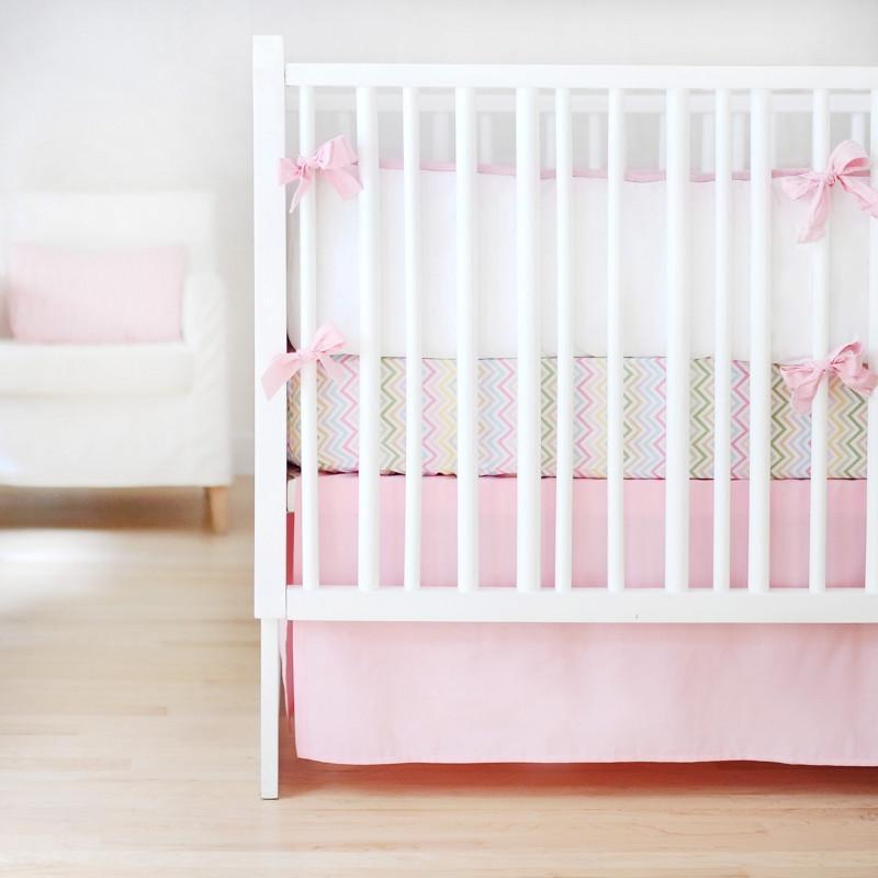 Bumper | Sweet & Simple Seperates - Pink Crib Baby Bedding Set