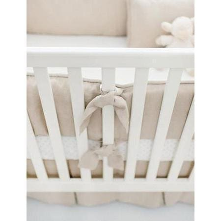 Bumper | Washed Linen in Flax Crib Baby Bedding Set