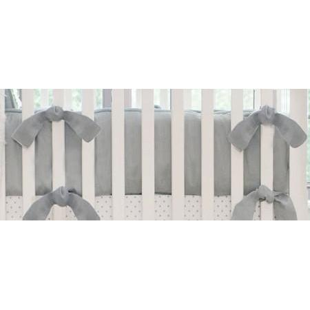 Bumper | Washed Linen in Gray Crib Baby Bedding Set-Bumper-Jack and Jill Boutique