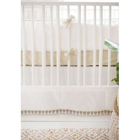 Bumper | White Gold Dust Crib Baby Bedding Set