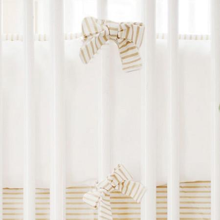 Bumper | White Gold Dust Crib Baby Bedding Set-Bumper-Jack and Jill Boutique