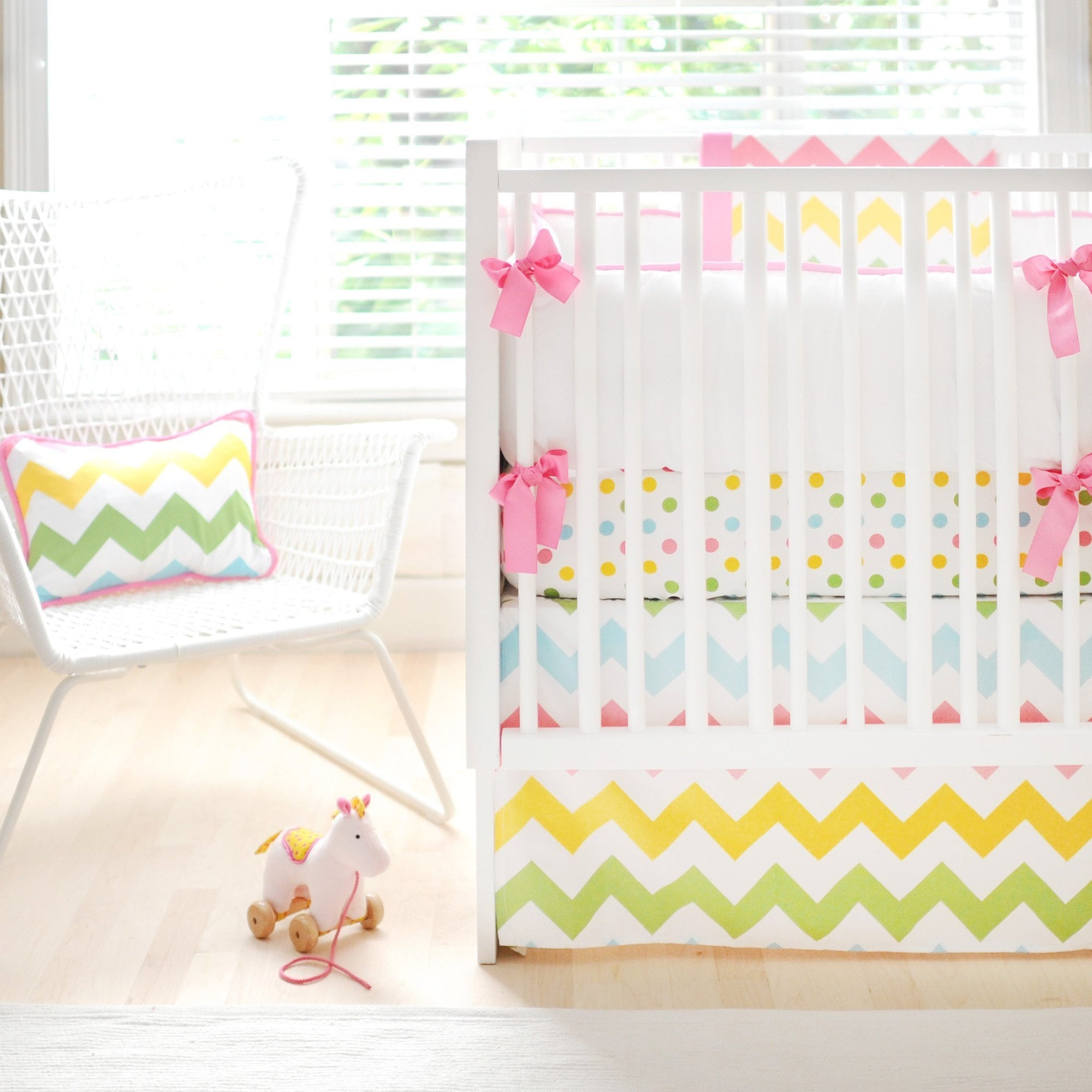 Bumper | Zig Zag Baby in Rainbow Crib Baby Bedding Set-Bumper-Default-Jack and Jill Boutique