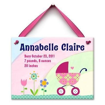 Bundle in the Buggy Girls Wall Tile-Personalized Wall Tile-Default-Jack and Jill Boutique