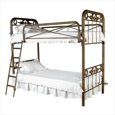 Bunk Bed W/ Horseshoes, Horses and Stars-Brass Bed-Default-Jack and Jill Boutique