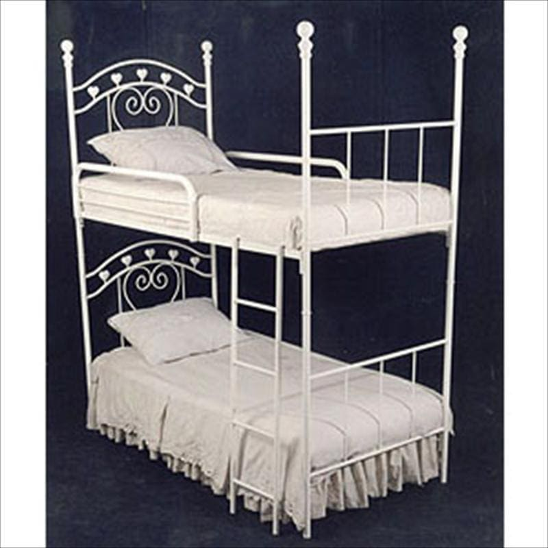 Bunk Beds W/ Hearts, Bunk Bed-Brass Bed-Jack and Jill Boutique