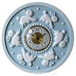 Bunnies Round Wall Clock for Children-Wall Clock-Jack and Jill Boutique